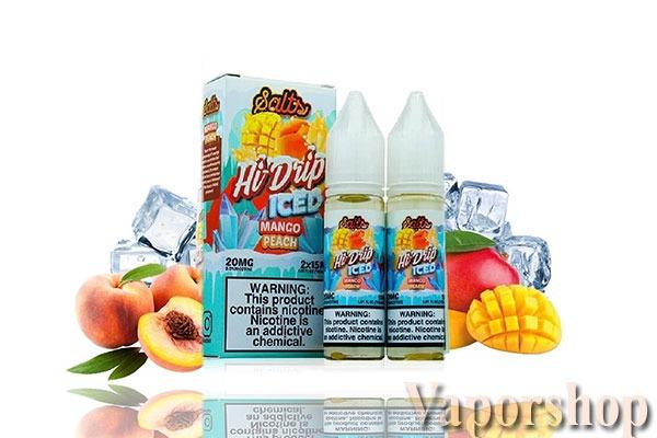 Hi drip salt nic mango peach iced
