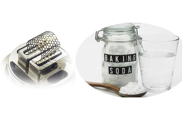 Vệ sinh bằng baking soda và giấm