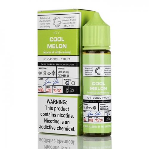 GLAS BASIX SERIES ICY COOL MELON BY GLAS ELIQUID 60ML